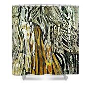 Birch Forest Shower Curtain by Sarah Loft