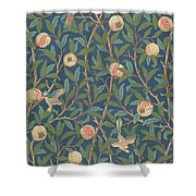 Bird And Pomegranate Shower Curtain by William Morris