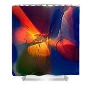 Bird On A Snowboard Shower Curtain by Omaste Witkowski