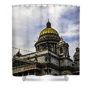 Bird Over St Basil's Cathedral Shower Curtain by Madeline Ellis