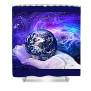 Birth Of A Planet Shower Curtain by Lisa Yount