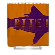 Bite Me Shower Curtain by Michelle Calkins