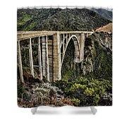 Bixby Creek Bridge Shower Curtain by Heather Applegate