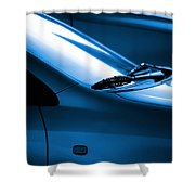 Black and Blue Cars Shower Curtain by Carlos Caetano