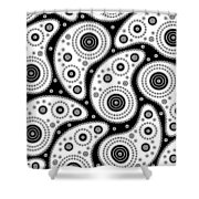 Black And White Paisley Shower Curtain by Frank Tschakert