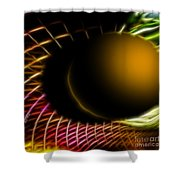 Black Hole Shower Curtain by Cheryl Young
