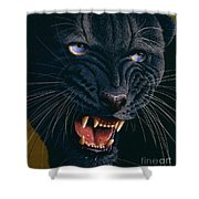 Black Panther 2 Shower Curtain by Jurek Zamoyski