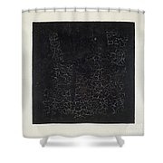 Black Square Shower Curtain by Kazimir Malevich