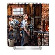 Blacksmith And Apprentice 2 Shower Curtain by Steve Harrington