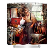 Blacksmith - The Smithy  Shower Curtain by Mike Savad