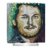 Blake Shelton  Country Singer Shower Curtain by Chrisann Ellis