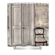 Blandness Shower Curtain by Margie Hurwich
