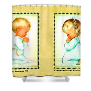 Bless Us All And A Childs Prayer Shower Curtain by Charlotte Byj