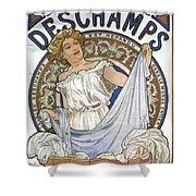 Bleu Deschamps Shower Curtain by Georgia Fowler