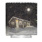 Blizzard At The Cabin Shower Curtain by Barbara Griffin