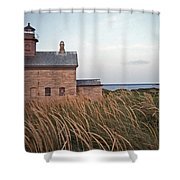 BLOCK ISLAND NORTH WEST LIGHTHOUSE Shower Curtain by Skip Willits