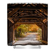 Blow-me-down Covered Bridge Cornish New Hampshire Shower Curtain by Edward Fielding