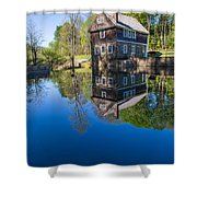 Blow Me Down Mill Cornish New Hampshire Shower Curtain by Edward Fielding