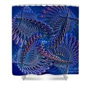 Blue 3 Shower Curtain by Deborah Benoit