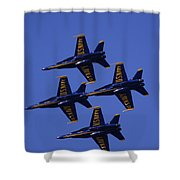 Blue Angels Shower Curtain by Bill Gallagher