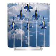 Blue Angels Shower Curtain by J Biggadike