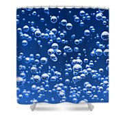 Blue Bubbles Shower Curtain by Bruno Haver