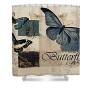 Blue Butterfly - J118118115-01a Shower Curtain by Variance Collections