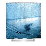 Blue Cocoon Shower Curtain by Sean Davey
