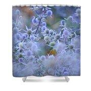 Blue Infinity Shower Curtain by Jenny Rainbow