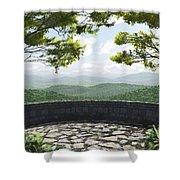 Blue Ridge Shower Curtain by Cynthia Decker