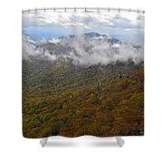 Blue Ridge Parkway Mountain View Shower Curtain by Susan Leggett