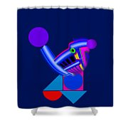 Blue Roost Shower Curtain by Charles Stuart