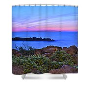 Blue Sunset Shower Curtain by Frozen in Time Fine Art Photography