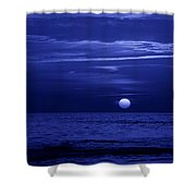 Blue Sunset Shower Curtain by Sandy Keeton