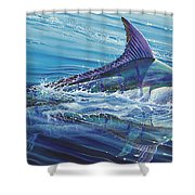 Blue Tranquility Off0051 Shower Curtain by Carey Chen