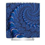 Blue Tubes Shower Curtain by John Edwards