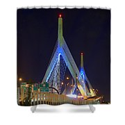 Blue Zakim Shower Curtain by Joann Vitali