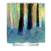 Bluebell Wood Shower Curtain by Valerie Anne Kelly