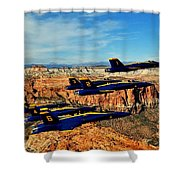 Blues Over Zion Shower Curtain by Benjamin Yeager