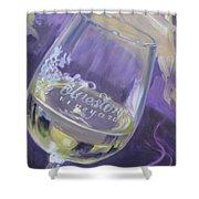 Bluestone Vineyard Wineglass Shower Curtain by Donna Tuten