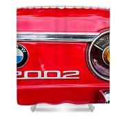 Bmw 2002 Taillight Emblem Shower Curtain by Jill Reger