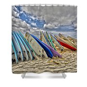Board Meeting Shower Curtain by Cheryl Young