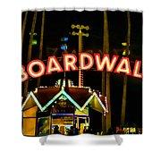 Boardwalk Shower Curtain by Digital Kulprits