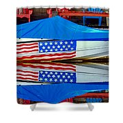 Boat For Freedom  Shower Curtain by Debra Forand