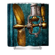 Boat - Propulsion  Shower Curtain by Mike Savad