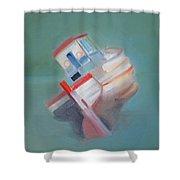 Boat Retired  Tavira Shower Curtain by Charles Stuart