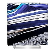 Boats And Reflections Shower Curtain by Elena Elisseeva
