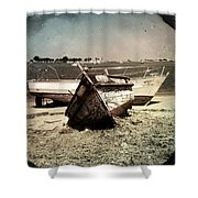 Boats On The Bay Shower Curtain by Marco Oliveira