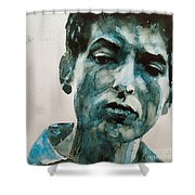 Bob Dylan Shower Curtain by Paul Lovering