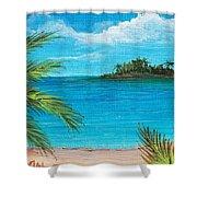 Boca Chica Beach Shower Curtain by Anastasiya Malakhova